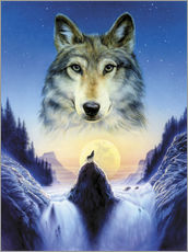 Wall Stickers  Cosmic wolf - Andrew Farley