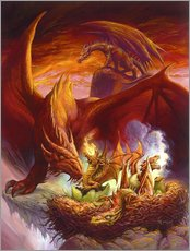 Gallery print  Children of the Dragon - Jeff Easley
