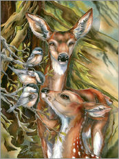 Gallery print  Deers and birds - Jody Bergsma