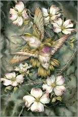 Wall Stickers  Hummingbirds and flowers - Jody Bergsma