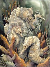 Wall sticker  Seahorses, beyond imagination - Jody Bergsma