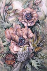 Wall sticker  Love is life sweetest flower - Jody Bergsma