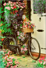 Wall Stickers  Bicycle & Flowers - Simon Kayne