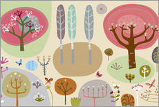 Wall sticker  Forest - Melvyn Evans