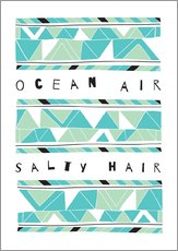 Wall sticker  Ocean Air Salty Hair - Susan Claire