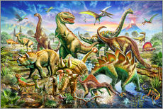 Wall Stickers  Assembly of dinosaurs - Adrian Chesterman