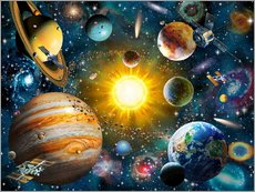 Gallery print  Our Solar System - Adrian Chesterman