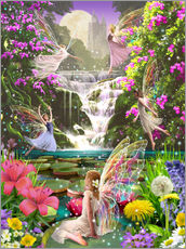 Gallery Print  Waterfall fairies - Garry Walton