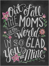 Wall sticker  The best mom of the world - Lily & Val