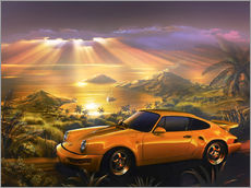 Wall sticker  Porsche at the beach - Adrian Chesterman