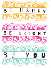Wall sticker  Be Happy Be Right Be You - Susan Claire