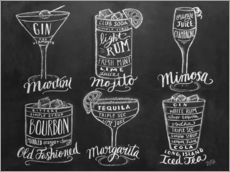 Wall sticker  Cocktail Recipes - Lily & Val
