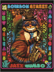 Wall Stickers  Jazz Cat - Lewis T. Johnson