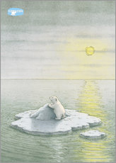 Wall sticker  The Little Polar Bear on the ice floe