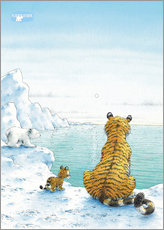 Gallery print  The Little Polar Bear with friends