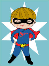 Wall Sticker  Our superhero Max - Little Miss Arty