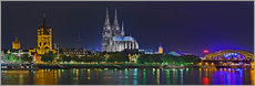 Gallery print  Cologne Skyline @ night - Fine Art Images