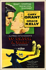 Gallery print  TO CATCH A THIEF, Alfred Hitchcock, Cary Grant, Grace Kelly