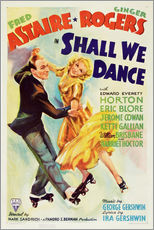Gallery Print  SHALL WE DANCE, Fred Astaire, Ginger Rogers