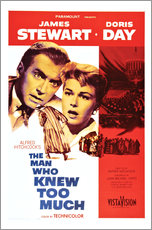 Wall Stickers  THE MAN WHO KNEW TOO MUCH, James Stewart, Doris Day