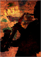 Wall Sticker  Saxophonist - colosseum