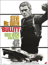 Wall sticker Steve Mcqueen in Bullitt
