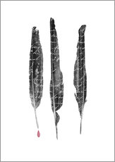 Gallery Print  The Writer's feathers - Sybille Sterk
