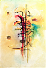 Wall sticker  Watercolor no. 326 - Wassily Kandinsky