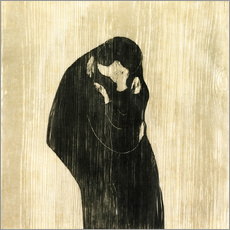 Gallery print  The Kiss IV - Edvard Munch