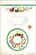 Gallery print  Sketch for a cup and saucer - Wassily Kandinsky