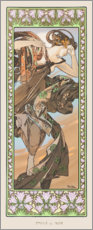 Gallery Print  The evening star - decorative - Alfons Mucha