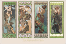 Gallery print  The moon and stars, decorative - Alfons Mucha