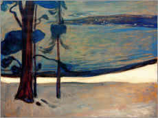 Acrylic print  Winter in North beach - Edvard Munch