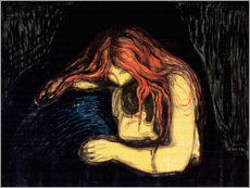 Canvas print  Vampire - Edvard Munch