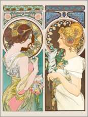 Wall sticker  Primrose & Feather - Alfons Mucha