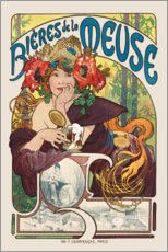 Gallery print  Bières de la Meuse (Beers from the Meuse) - Alfons Mucha