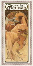 Gallery print  Chocolat Mexicain, Autumn - Alfons Mucha