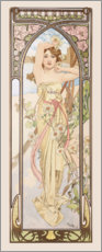 Premium poster  The Four Times of the Day - Brightness of the Day - Alfons Mucha