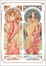 Gallery print  Moet & Chandon, collage - Alfons Mucha