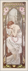Wood print  Night's rest, times of the day series - Alfons Mucha