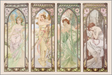Wall Stickers  Les heures du jour (Times of the Day) - Alfons Mucha