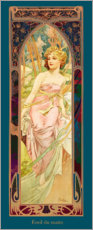 Premium poster  Times of the Day - Morning Awakening - Alfons Mucha