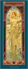 Canvas print  The Four Times of the Day - Brightness of the Day - Alfons Mucha