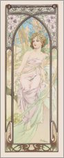 Aluminium print  Eveil du matin (The Morning) - Alfons Mucha