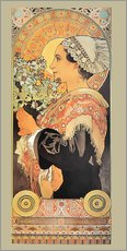 Wall Stickers  silver thistle - Alfons Mucha