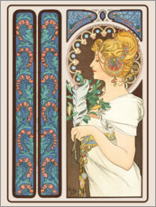 Gallery print  The Feather, decorative - Alfons Mucha