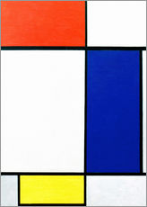 Wall Stickers  Composition w. red, yellow, blue - Piet Mondrian