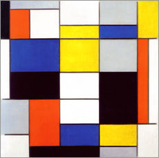 Wall Stickers  Composition A - Piet Mondrian