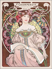 Wall sticker  Obraz, rose - Alfons Mucha