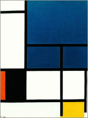 Wall sticker  Composition with big blue surface - Piet Mondrian